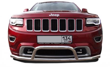 JEEP  Grand Cherokee 2013   Защита переднего бампера одинарная+низкая скоба  76